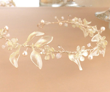 Handmade Bridal Wedding Hair Vine - flowers, swarovski crystals and pearls
